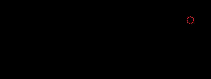「箸」の11画目に点の有無が書体によって発生している図