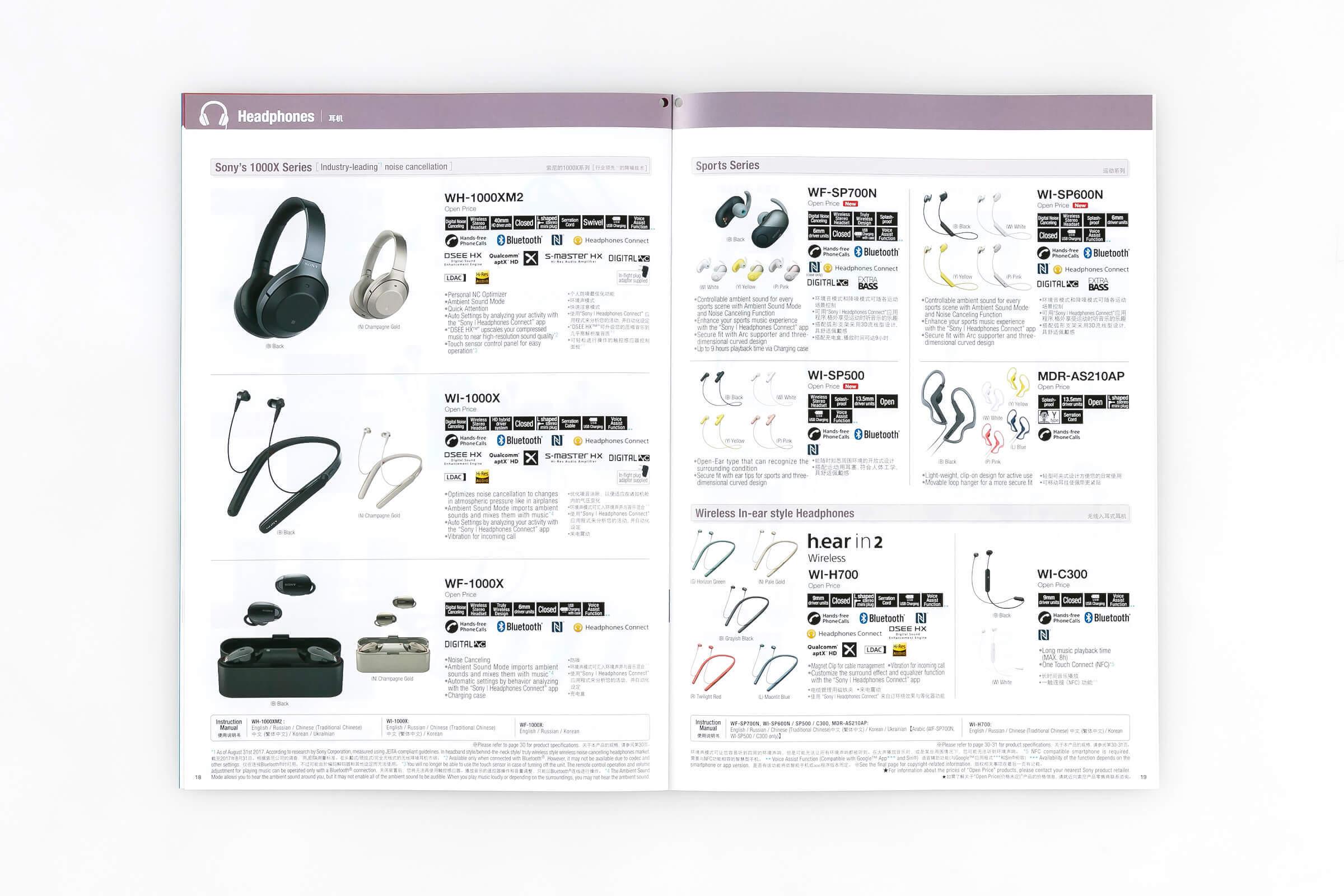 オーバーシーズモデル総合パンフレット2018年夏号 18-19 ヘッドホン商品ページ